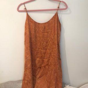 Planet Blue orange tie dye dress